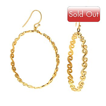 120-415 - Porsamo Bleu Scroll Hoop Earrings