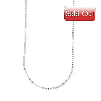 120-579 - Diamond Treasures Sterling Silver 36'' 1.5mm Popcorn Chain Necklace