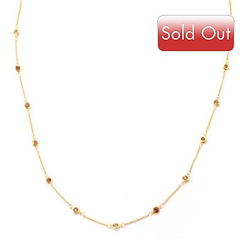 120-589 - NYC II 36'' Bezel Set Zircon Station Necklace
