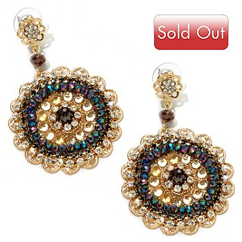120-631 - Meghan Browne Style Gold-tone Crystal ''Aubrey'' Earrings