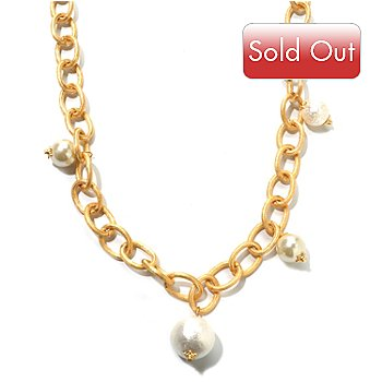120-633 - Meghan Browne Style Gold-tone 39'' Oval Link ''Coco'' Necklace