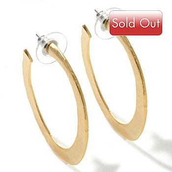 120-638 - Meghan Browne Style Gold-tone ''Taylor'' Hoop Earrings