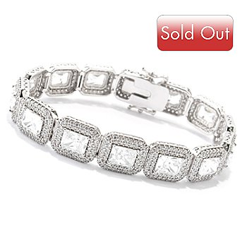 120-660 - Charlie Lapson for Brilliante® Emerald Cut Halo Tennis Bracelet