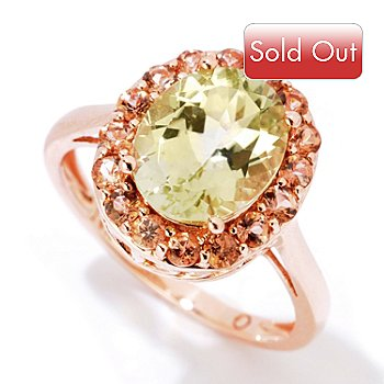 121-412 - Gem Insider 14K Rose Gold 2.79ctw Sillimanite & Andalusite Halo Ring
