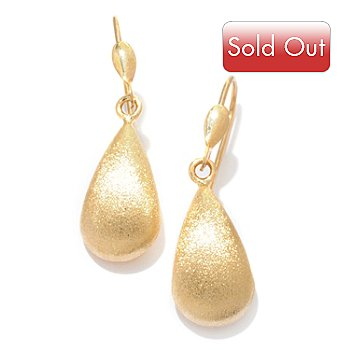 121-538 - Viale18K® Italian Gold Satin Finish Front Drop Earrings