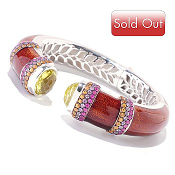 121-549 - EFFY Sterling Silver 17.70ctw Multi Gem ''Balissima'' Bangle Bracelet