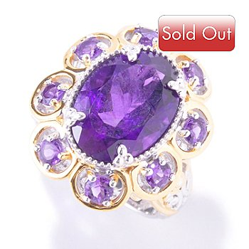 121-564 - Gems en Vogue II 6.62ctw Amethyst Ring
