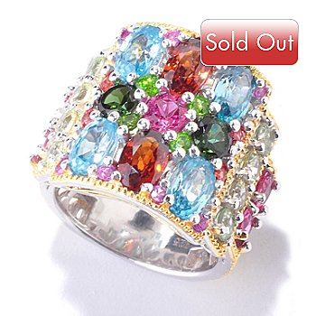 121-567 - Gems en Vogue II 6.96ctw Multi Gemstone Ring