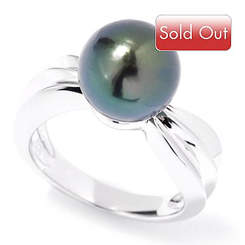 121-634 - Sterling Silver 10-11mm Tahitian Cultured Pearl Ring
