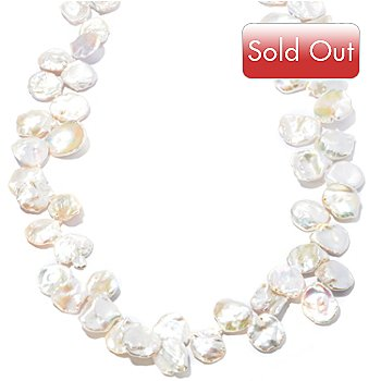 121-666 - 38'' 14-16mm Keishi Freshwater Cultured Pearl Necklace w/ Magnetic Clasp