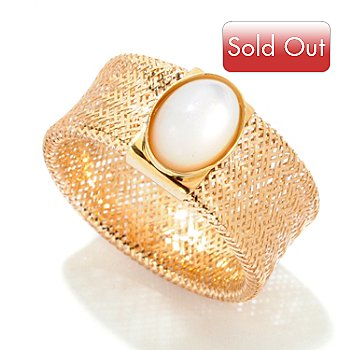 121-726 - Italian Designs with Stefano 14K Mother-of-Pearl Stretch Ring