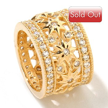 121-763 - Sonia Bitton for Brilliante® Gold Embraced™ 1.90 DEW Starburst Eternity Band Ring