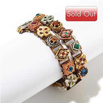 121-946 - Sweet Romance™ Gold-Tone Two-Strand ''Royal Renaissance'' Bracelet