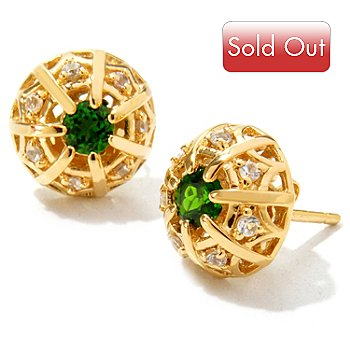 122-039 - Dallas Prince Designs Gemstone Filigree Stud Earrings