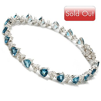 122-149 - NYC II Trillion Cut London Blue Topaz & White Zircon Bracelet