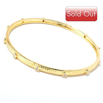 122-274 - Southport Diamonds 8'' 0.50ctw Diamond Textured Stackable Bangle Bracelet