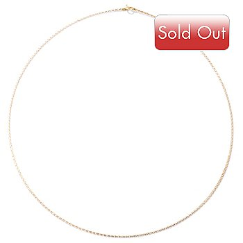 122-316 - 14K Gold 18'' Omega Chain Necklace, 1.2 grams