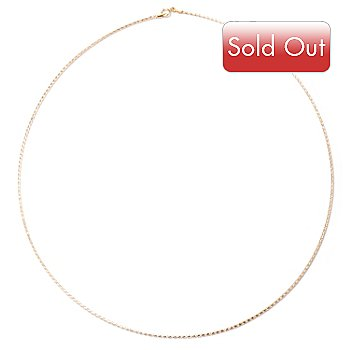 122-317 - 14K Gold 20'' Omega Chain Necklace, 1.4 grams