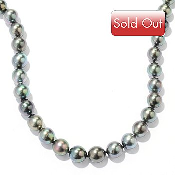 122-354 - 14K White Gold 23'' 10-11mm Tahitian Cultured Pearl Necklace
