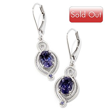 124-941 - NYC II 1.78ctw Blue Amethyst & Iolite Drop Earrings