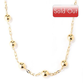 124-965 - Viale18K® Italian Gold 24'' Polished Station Necklace, 13.27 grams