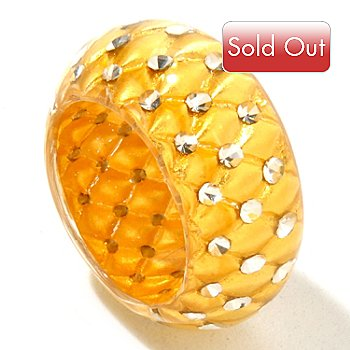 124-970 - Italian Designs with Stefano 24K ''Oro Puro'' Gold Foil & Resin Ring