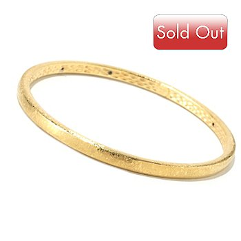 124-975 - Italian Designs with Stefano 14K ''Oro Vita'' Slip-on Bangle Bracelet