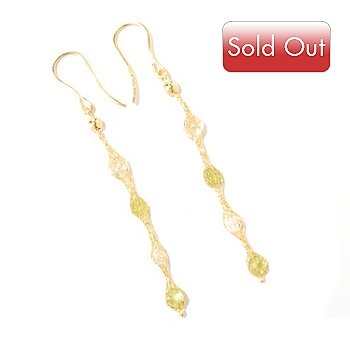 124-995 - Italian Designs with Stefano 14K Gold 1.36ctw Rock Crystal & Quartz Earrings