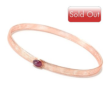 124-997 - Italian Designs with Stefano 14K Gemstone Stretch Mesh Bracelet