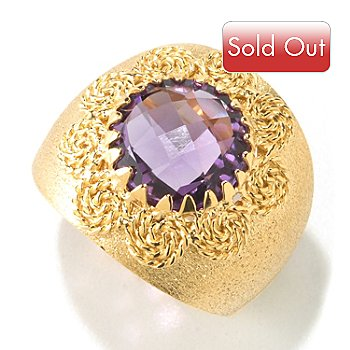 125-065 - Viale18K® Italian Gold Faceted Gemstone Ring
