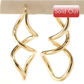 125-077 - Viale18K® Italian Gold Twisted ''Lanterna'' Earrings
