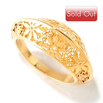 125-088 - Italian Designs with Stefano 14K Gold Polished Ricami Ring