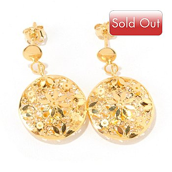 125-093 - Italian Designs with Stefano 14K Gold Polished Ricami Earrings