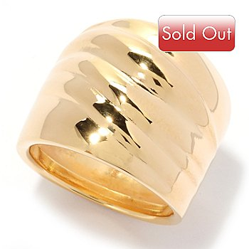 125-490 - Portofino Gold Embraced™ Polished Wave Cigar Band Ring