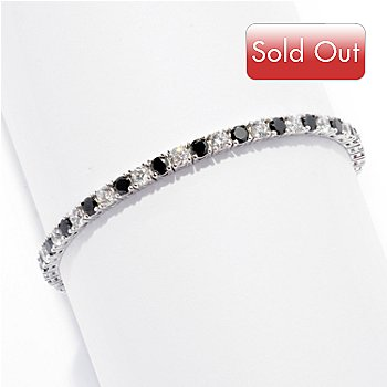 125-500 - Brilliante® Platinum Embraced™ White & Black Tennis Bracelet