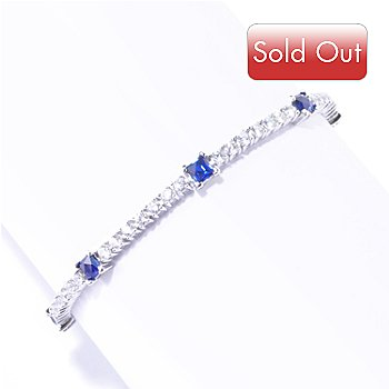 125-697 - TYCOON for Brilliante® Platinum Embraced™ Blue & White Tycoon Cut Tennis Bracelet