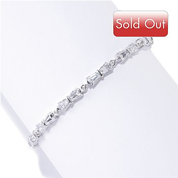 125-787 - Brilliante® Platinum Embraced™ Tapered Baguette Bow Line Bracelet