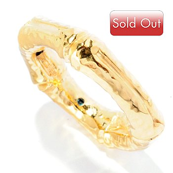 125-807 - Italian Designs with Stefano 14K ''Oro Vita'' Electroform Bamboo Design Ring