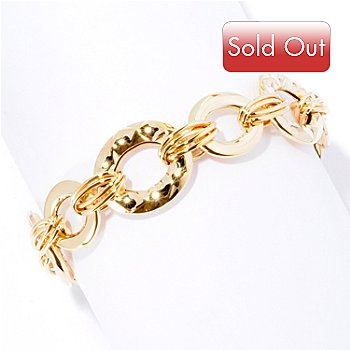125-812 - Italian Designs with Stefano 14K Gold Tuscan Art Bracelet