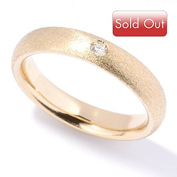 125-979 - SempreGold™ 14K Diamond Accent Satin Finised Band Ring