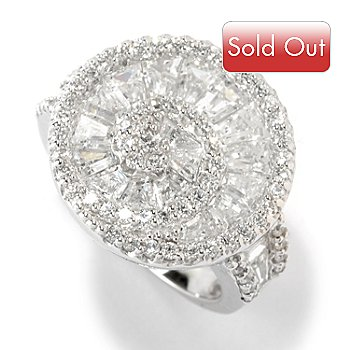 126-055 - Charlie Lapson® Platinum Embraced™ 3.89 DEW Simulated Diamond Swirl Ring