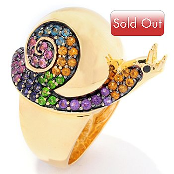 126-096 - NYC II 1.36ctw Multi Gemstone Swirl Snail Ring