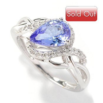126-379 - Gem Treasures 14K White Gold 1.08ctw Tanzanite & Diamond Ring