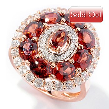 126-640 - Gem Treasures 14K Rose Gold 4.88ctw Mocha & White Zircon Oval Ring
