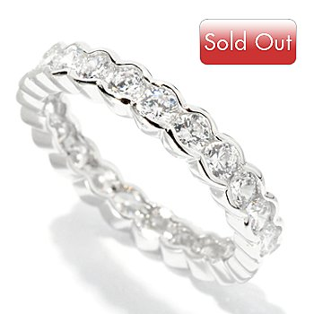 126-753 - Brilliante® 1.38 DEW Round Cut Semi-Bezel Set Eternity Band Ring