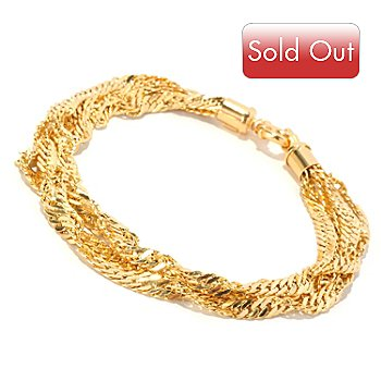 126-902 - Italian Designs with Stefano 14K Gold Four-Stand Singapore Bracelet