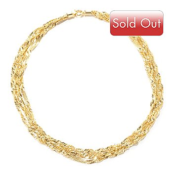 126-903 - Italian Designs with Stefano 14K Gold Four-Strand Singapore Necklace