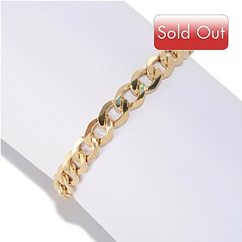 126-904 - Italian Designs with Stefano 14K Gold Mirror Facets Grumette Bracelet