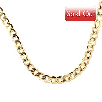 126-905 - Italian Designs with Stefano 14K Gold 18'' Mirror Facets Grumette Necklace, 13.87 grams