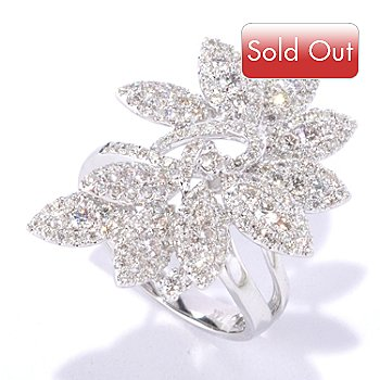 126-958 - EFFY 14K White Gold 1.25ctw Diamond Leaf Ring